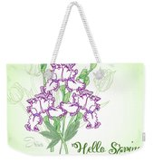Spring Bouquet  With Three Irises.  Weekender Tote Bag