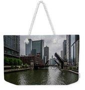 Spring Bridge Lift Scene In Chicago  Weekender Tote Bag