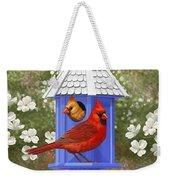 Spring Cardinals Weekender Tote Bag