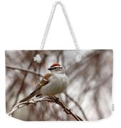 Spring Chipping Sparrow Weekender Tote Bag