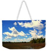 Spring Clouds Over The Marsh Weekender Tote Bag