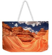 Spring Clouds Over The Wave Weekender Tote Bag