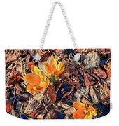 Spring Crocus Flower Weekender Tote Bag