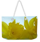 Spring Daffodils Flowers Art Prints Blue Skies Weekender Tote Bag