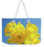 Spring Daffodils Flowers Garden Blue Sky Baslee Troutman Weekender Tote Bag