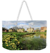 Spring Daffodils, Ramsey Village Pond, Cambridgeshire, England Weekender Tote Bag