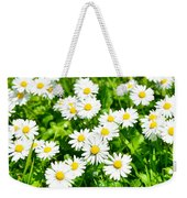Spring Daisy In The Meadow Weekender Tote Bag