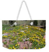 Spring Dandelion And Mountain Landscape Weekender Tote Bag