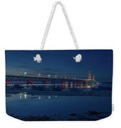 Spring Evening At The Mackinac Bridge Weekender Tote Bag