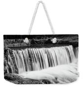 Spring Falls At Hodgson Grayscale Weekender Tote Bag