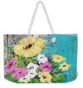 Spring Floral Weekender Tote Bag