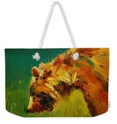 Spring Flower Bear Weekender Tote Bag