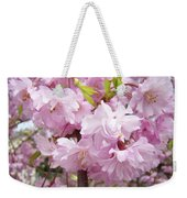 Spring Flowering Trees Art Prints Pink Flower Blossoms Baslee Weekender Tote Bag