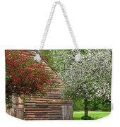 Spring Flowers And The Barn Weekender Tote Bag