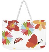 Spring Flowers Pattern Weekender Tote Bag
