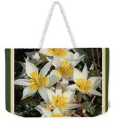 Spring Flowers With Green Border Weekender Tote Bag
