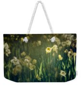 Spring Garden With Narcissus Flowers Weekender Tote Bag