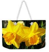 Spring Gold Weekender Tote Bag
