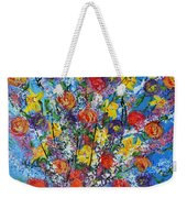 Spring Has Sprung- Abstract Floral Art- Still Life Weekender Tote Bag