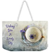 Spring In A Cup Weekender Tote Bag