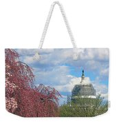 Spring In Washington And Dressed In Scaffolding Weekender Tote Bag