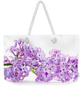 Spring Lilac Flowers Blooming Isolated On White Weekender Tote Bag