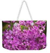 Spring Lilacs On Black Weekender Tote Bag