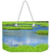 Spring Marsh Grasses Weekender Tote Bag