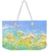 Spring Meadow Abstract Weekender Tote Bag