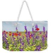 Spring Meadow With Flowers Nature Scene Weekender Tote Bag