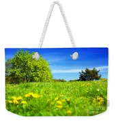 Spring Meadow With Green Grass Weekender Tote Bag