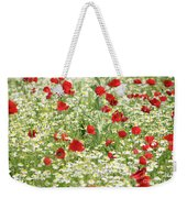 Spring Meadow With Poppy And Chamomile Flowers Weekender Tote Bag