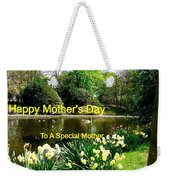 Spring Mother's Day Greeting Weekender Tote Bag