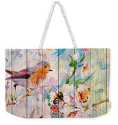 Spring On Wood 06 Weekender Tote Bag