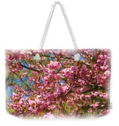 Spring Pink Blossoms Weekender Tote Bag
