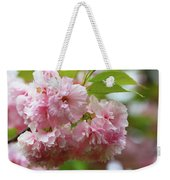 Spring Pink, Green And White Weekender Tote Bag