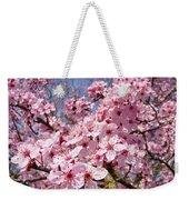 Spring Pink Tree Blossoms Art Print Baslee Troutman Weekender Tote Bag