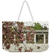 Spring Rain Outside The Window And Sakura Weekender Tote Bag