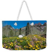 Spring Rocky Mountain Landscape Weekender Tote Bag
