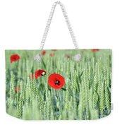 Spring Scene Green Wheat And Poppy Flowers Weekender Tote Bag