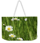Spring Scene White Wild Flowers Weekender Tote Bag