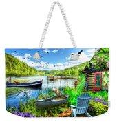 Spring Serenity At Lakeside Weekender Tote Bag