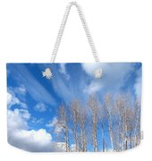 Spring Sky And Cotton Trees Weekender Tote Bag