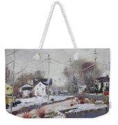 Spring Snowfall Weekender Tote Bag