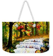 Spring Stream - Palette Knife Oil Painting On Canvas By Leonid Afremov Weekender Tote Bag