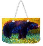 Spring Stroll - Black Bear Weekender Tote Bag