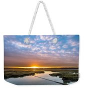 Spring Sunrise On Arcata Bay Weekender Tote Bag