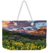 Spring Sunset In The Tetons Weekender Tote Bag