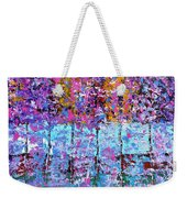 Spring Time In The Woods Abstract Oil Painting Weekender Tote Bag