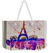 Spring Time. Paris. Eiffel Tower.  Weekender Tote Bag